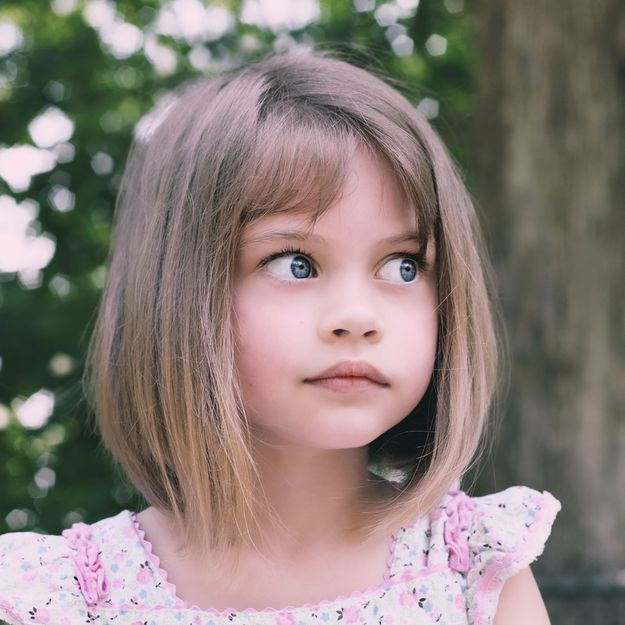 Little girl with a nice haircut